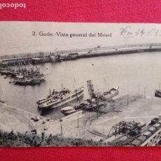 Sellos: 1923.TARJETA POSTAL.GIJON-VISTA GENERAL DEL MUSEL.CIRCULADA.. Lote 155775434