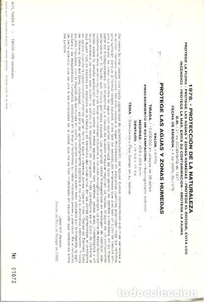 Sellos: APUNTE LITERARIO FILATELICO ILUSTRADO FLASH 9 PROTEGE LAS AGUAS Y ZONAS HUMEDAS 1978 - Foto 2 - 157775898
