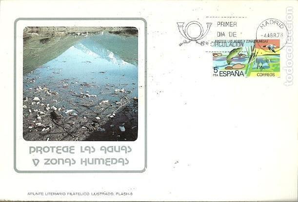 APUNTE LITERARIO FILATELICO ILUSTRADO FLASH 9 PROTEGE LAS AGUAS Y ZONAS HUMEDAS 1978 (Sellos - Extranjero - Tarjetas)