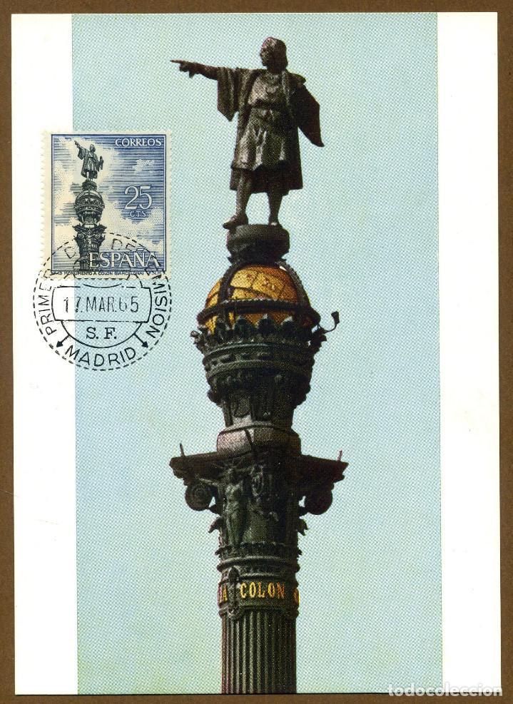 POSTAL SERIE TURISTICA - BARCELONA MONUMENTO A COLON (Sellos - España - Tarjetas)