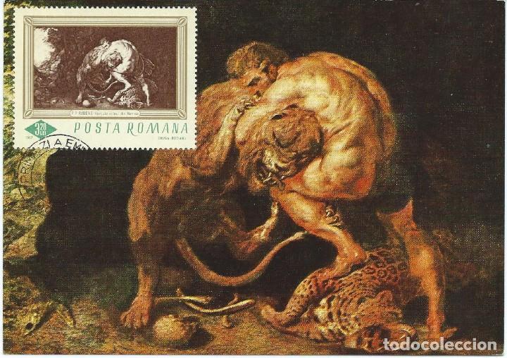 1967. RUMANÍA/ROMANIA. MÁXIMA/MAXIMUM CARD. HÉRCULES. ARTE/ART. PINTURA/PAINTING. RUBENS. (Sellos - Extranjero - Tarjetas Máximas)