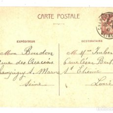 Timbres: CARTE POSTALE. FRANCIA.1941. Lote 161176142