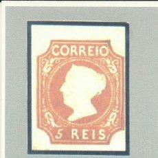 Sellos: 4 TARJETAS MAXIMAS PORTUGAL , SELLOS DE 5,25,50 Y 100 REIS ,150 ANIV. PRIMER SELLO PORTUGUES. Lote 161894534