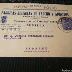 Sellos: FABRICA REUNIDDAS DE CAUCHO. SEVILLA. 1940. Lote 162094562