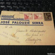Timbres: JOSE PALOUZIE SERRA. 1940.BARCELONA. Lote 162099492