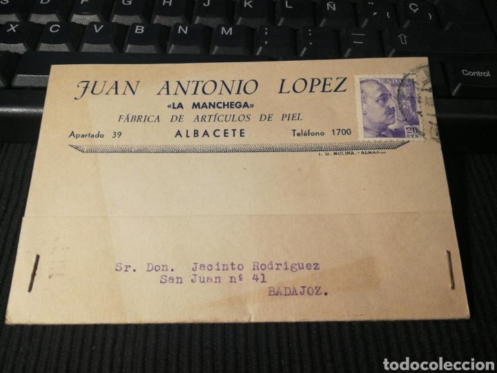 ALBACETE. 1943 (Sellos - España - Tarjetas)