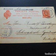 Sellos: TARJETA POSTAL CIRCULADA MADRID 1907 A ALEMANIA. Lote 163778566
