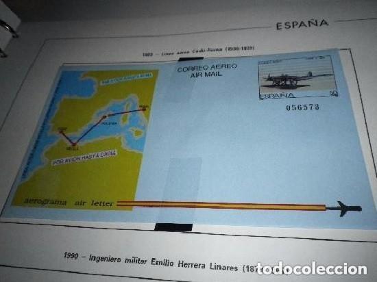 AEROGRAMA ESPAÑA 1989.AVIATION.LINEA AEREA CADIZ/ MELILLA (Sellos - España - Tarjetas)