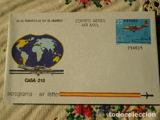 AEROGRAMA AVIÓN CASA - 212 1983 (Sellos - España - Tarjetas)