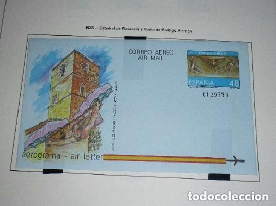 AEROGRAMA DE 1986 CATEDRAL DE PLASENCIA Y VUELO DE MATEO ALEMAN (Sellos - España - Tarjetas)