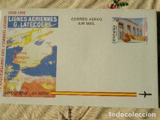 AEROGRAMA ESPAÑA 1995. IMAGEN, AEROPUERTO DE MALAGA. 75 ANIVERSARIO CORREO AEREO (Sellos - España - Tarjetas)