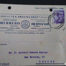 Sellos: TARJETA POSTAL PUBLICITARIA CON AMBULANTE LEÓN - CORUÑA. CORUÑA.. Lote 164923408