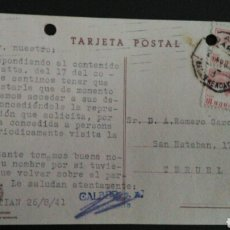 Sellos: TARJETA POSTAL. AMBULANTE RÁPIDO. MADRID - HENDAYA.. Lote 164923764