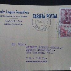 Sellos: TARJETA POSTAL PUBLICITARIA. NOVELDA. ALICANTE.. Lote 164926878
