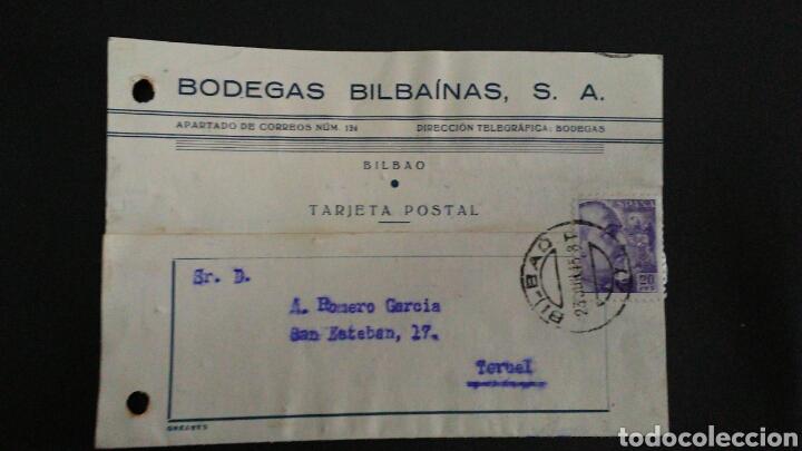 TARJETA POSTAL PUBLICITARIA. BILBAO. (Sellos - España - Tarjetas)