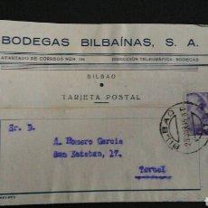 Sellos: TARJETA POSTAL PUBLICITARIA. BILBAO.. Lote 164927218
