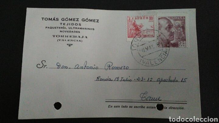TARJETA POSTAL PUBLICITARIA. TORREBAJA. VALENCIA. (Sellos - España - Tarjetas)