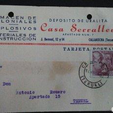 Sellos: TARJETA POSTAL PUBLICITARIA. CALAMOCHA. TERUEL.. Lote 164927777