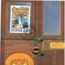 Sellos: SUECIA IVERT Nº 1382, VAGÓN POSTAL DEL SIGLO XIX, TARJETA MAXIMA DE 29-1986. Lote 165205810
