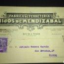 Sellos: TARJETA POSTAL PUBLICITARIA. DURANGO, VIZCAYA.. Lote 165387286