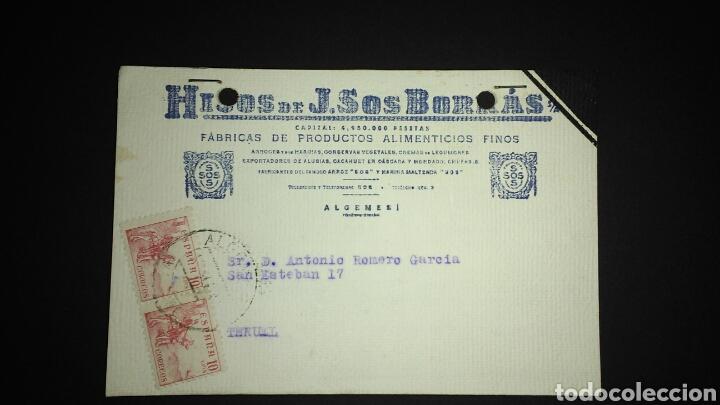 TARJETA POSTAL PUBLICITARIA. ALGEMESI. VALENCIA. (Sellos - España - Tarjetas)