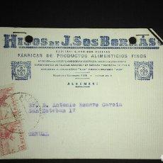 Sellos: TARJETA POSTAL PUBLICITARIA. ALGEMESI. VALENCIA.. Lote 165387590