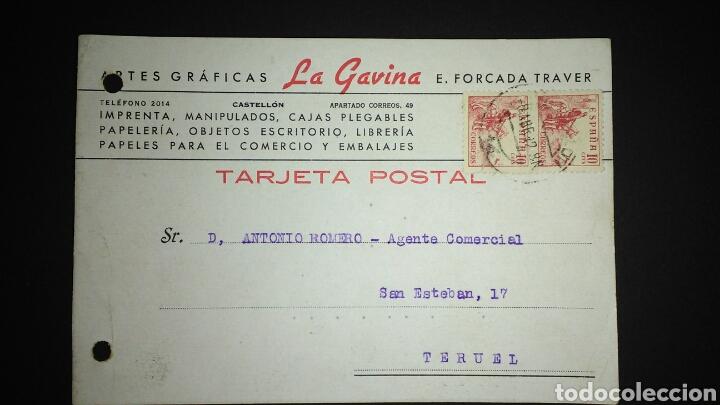 TARJETA POSTAL PUBLICITARIA. CASTELLÓN. (Sellos - España - Tarjetas)