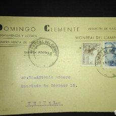 Sellos: TARJETA POSTAL PUBLICITARIA. MONREAL DEL CAMPO. TERUEL.. Lote 165388872
