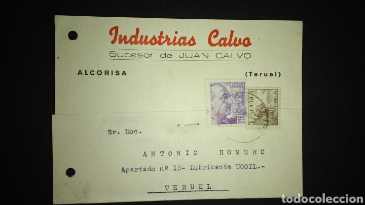 TARJETA POSTAL PUBLICITARIA. ALCORISA. TERUEL. (Sellos - España - Tarjetas)