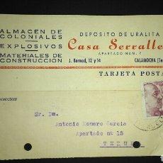 Sellos: TARJETA POSTAL PUBLICITARIA. CALAMOCHA. TERUEL.. Lote 165389380