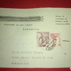 Sellos: TARJETA POSTAL COMERCIAL. SUMINISTROS ELECTRICOS. ZARAGOZA.. Lote 165787440