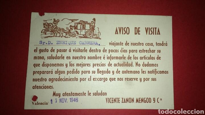 Sellos: TARJETA POSTAL PUBLICITARIA. FARMACIA. VALENCIA. - Foto 2 - 165787826