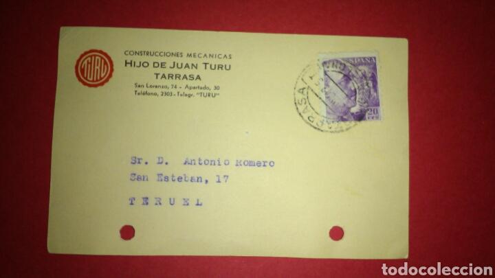 TARJETA POSTAL COMERCIAL. TARRASA. BARCELONA. (Sellos - España - Tarjetas)