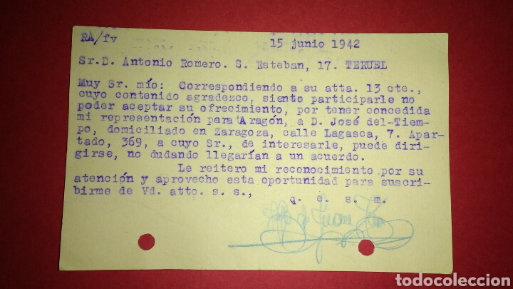 Sellos: TARJETA POSTAL COMERCIAL. TARRASA. BARCELONA. - Foto 2 - 165788037