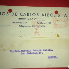 Sellos: TARJETA POSTAL COMERCIAL. VIGO. PONTEVEDRA. FRANQUEO MECANICO.. Lote 165788185