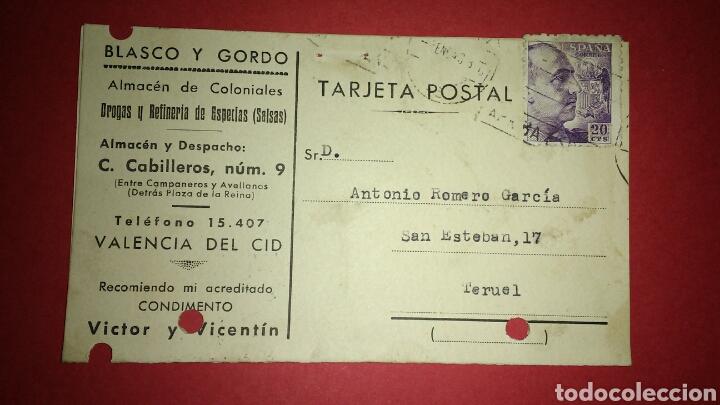 TARJETA POSTAL COMERCIAL. VALENCIA. (Sellos - España - Tarjetas)