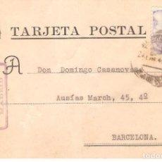 Sellos: TARJETAS POSTALES, TARJETA COMERCIAL, NICOLAS SIGUERO, MADRID, 1945, CIRCULADA CON SU SELLO. Lote 167608192
