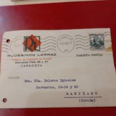 Sellos: 1936 ZARAGOZA RUDESINDO LAREAZ GÉNEROS PUNTO RODILLO 1936 ZARAGOZA. Lote 168685337