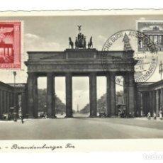 Sellos: ALEMANIA. TEMA: EDIFICIOS HISTÓRICOS - BERLÍN, BRANDENBURGER TOR (MATASELLOS 1943, 1951). Lote 168817156
