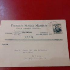 Sellos: 1936 LEON FRANCISCO MERINO AGENTE MATASELLO LUGO LLEGADA. Lote 168907381