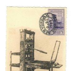 Sellos: ESTADOS UNIDOS, 1939 - III CENTENARIO DE LA PRIMERA IMPRENTA EN LA AMÉRICA COLONIAL. Lote 168907504