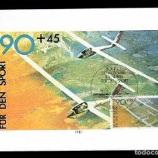 Sellos: PRO DEPORTE - AEROMODELISMO - MATASELLOS: PIRAGÜISMO / ALEMANIA 10.4.1981. Lote 170235840