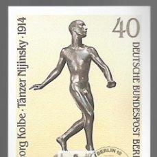 Sellos: ESCULTURAS / GEORG KOLBE, TÄNZER NIJINSKY 1914 / ALEMANIA 12.11.1981. Lote 170287956