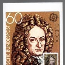 Sellos: EUROPA - PERSONAJES -GOTTFRIED WILHELM LEIBNIZ 1646-1716/ ALEMANIA 8.5.1980. Lote 170288164