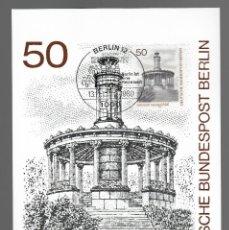 Sellos: MOTIVOS DE BERLÍN - GROSSE NEUGIERDE / ALEMANIA 13.11.1980. Lote 170288512