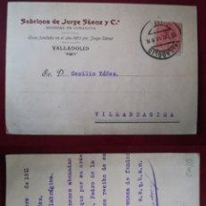 Sellos: ESPAÑA SPAIN TARJETA POSTAL POSTCARD PRIVADA 1911 SOBRINOS DE JORGE SÁENZ Y C. VALLADOLID. Lote 161855301