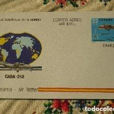Sellos: AEROGRAMA AVIÓN CASA - 212 1983 . Lote 171461430