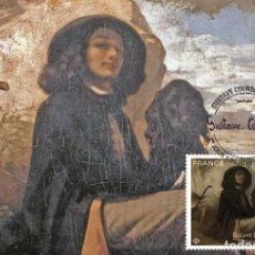 Sellos: FRANCE 2019 - GUSTAVE COURBET (1819-1877) MAXIMUM CARD. Lote 171464045