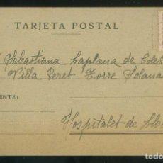 Sellos: TERRASSA. CIRCULADA DE LES FONTS A L´HOSPITALET DE LLOBREGAT. FECHADOR *LES FONTS - 1938*. Lote 5512094
