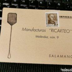 Sellos: MANUFACTURAS RICARTEO. SALAMANCA.. Lote 172311113